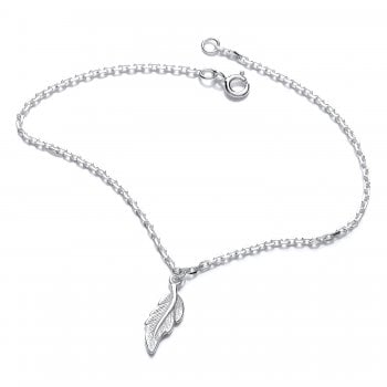 Jodie Rose Sterling Silver Feather Bracelet