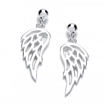 Jodie Rose Sterling Silver Angel Wing Earrings