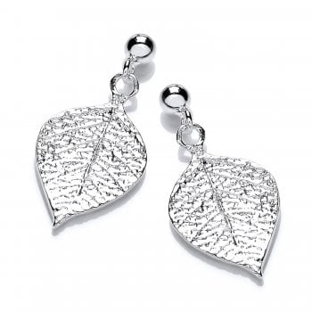 Jodie Rose Sterling Silver Leaf Earrings