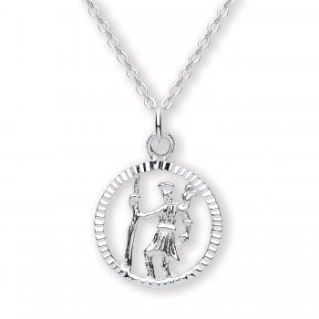Jodie Rose Sterling Silver St Chrispoher Pendant