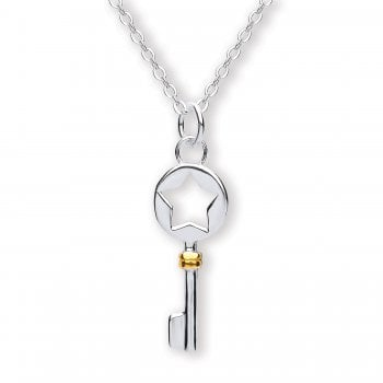Jodie Rose Sterling Silver Key Pendant