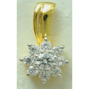 18ct wg 0.25ct diamond pendant & 18