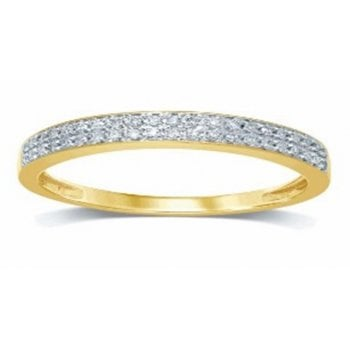 Adara 9ct yg 0.08ct diamond half eternity ring