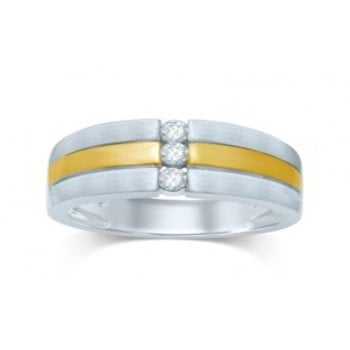 Adara 10ct Two Tone Gold 0.25ct Gents Ring
