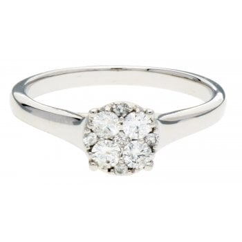 Adara 9ct WG 0.33ct Diamond Ring