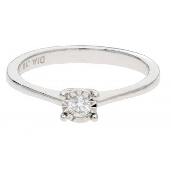Adara 9ct WG 0.10ct Diamond Ring
