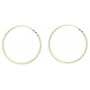 Adara 9ct YG 22mm D/Cut Tube Hoops