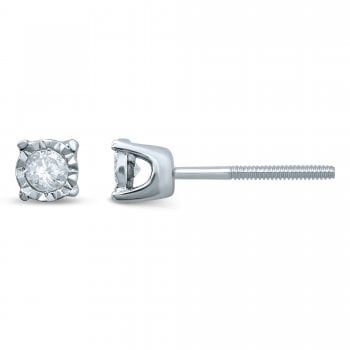 Adara 14ct WG 0.10ct Diamond Studs