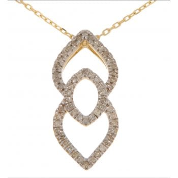 Adara 9ct yellow gold 0.16ct diamond necklet