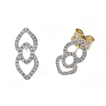 Adara 9ct yellow gold 0.24ct diamond earrings