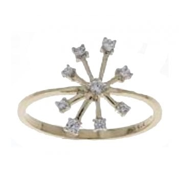 Adara 9ct yellow gold 0.13ct diamond ring