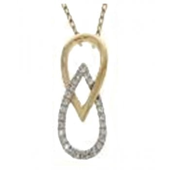 Adara 9ct yellow gold 0.05ct necklet