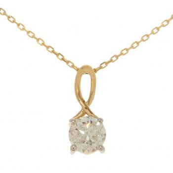 Adara 9ct yellow gold 0.50ct diamond necklet
