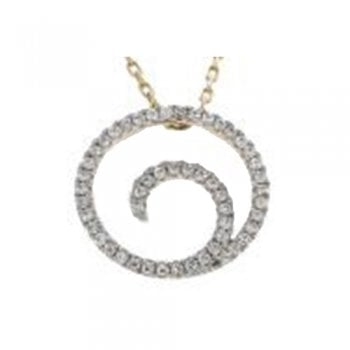 Adara 9ct yellow gold 0.15ct diamond necklet