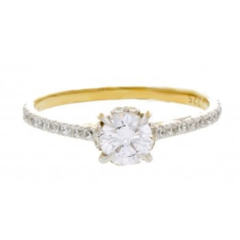 Adara 9ct yellow gold 0.68ct diamond ring