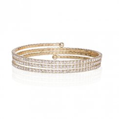 gold wrap around pave bracelet
