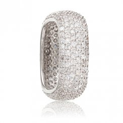 sterling silver square pave stacking ring