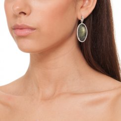 silver earrings with mother of pearl centre