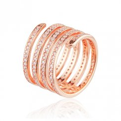 Rose gold spiral midi ring