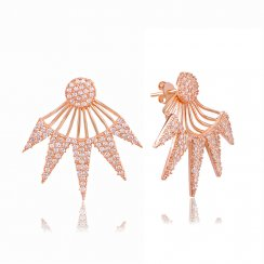 Rose gold art deco triangle ear jacket