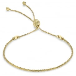 9 ct Yellow Gold Tocalle Chain Adjustable Bracelet, 23 cm/9 Inch