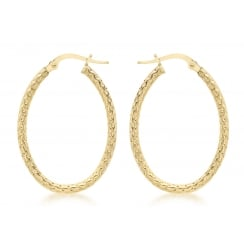 Yellow 9ct Yellow Gold Earring