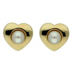 9ct yellow gold cultured pearl studs