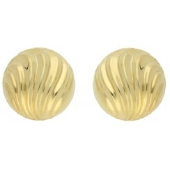9ct yellow gold studs