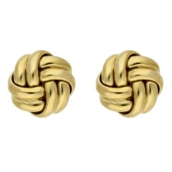 9ct yellow gold knot studs