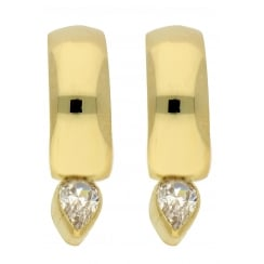 9ct yellow gold cz creoles