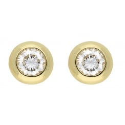9ct yellow gold cz studs