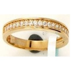 9ct yg 0.20ct diamond half eternity ring