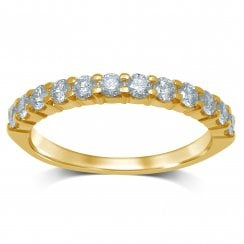 9ct yg 0.50ct diamond eternity ring