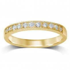 9ct yg 0.33ct diamond eternity ring