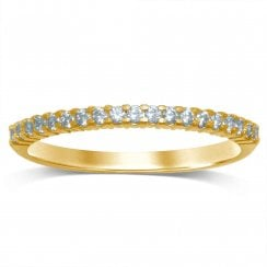 9ct yg 0.16ct diamond eternity ring