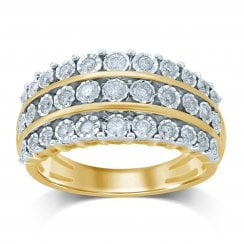9ct yg 0.50ct diamond ring