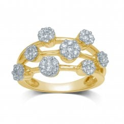 9ct yg 0.62ct diamond ring