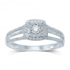 9ct yg 0.40ct diamond ring