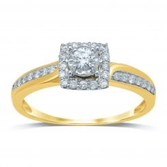 9ct yg 0.33ct diamond ring