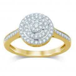 9ct yg 0.34ct diamond ring
