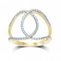 9ct yg 0.25ct diamond ring