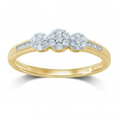 9ct yg 0.27ct diamond ring