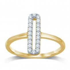 9ct yg 0.20ct diamond ring