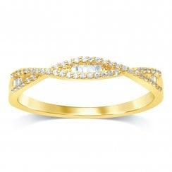 9ct yg 0.14ct diamond ring