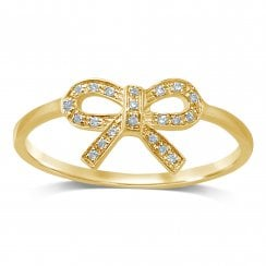 9ct yg 0.07ct diamond ring