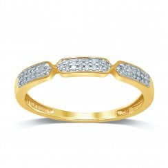 9ct yg 0.08ct diamond ring