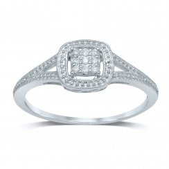 9ct yg 0.05ct diamond ring