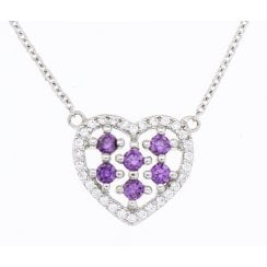 Silver cubic zirconia necklace