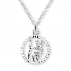 Sterling Silver St Chrispoher Pendant