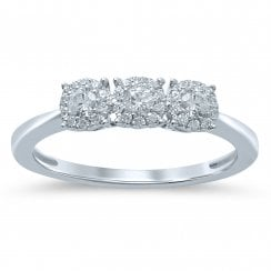 9ct Wg 0.33Ct I I2 Diamond Ring